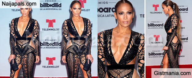 c0e64b3045bb Jennifer Lopez Causes Stir @ The Billboard Latin Music Awards 2017 With Her  Very Revealing Dress