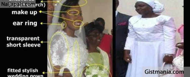 New Mrs Kumuyis Wedding Outfit Vs A Deeper Life Members Gistmania