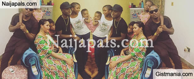 cute family baddo olamide shows off photo of his family on