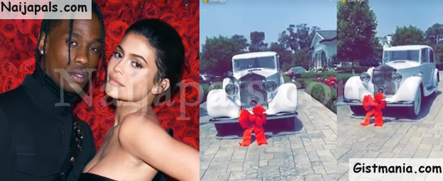 Travis Scott Gifts Kylie Jenner With A Vintage Rolls Royce For Her 21st Birthday Photos