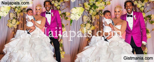 Model Amber Rose And Rer Wiz Khalifa Celebrated Their One Year Wedding Anniversary On Monday By Sharing Unseen Pictures Wore A Spectacular