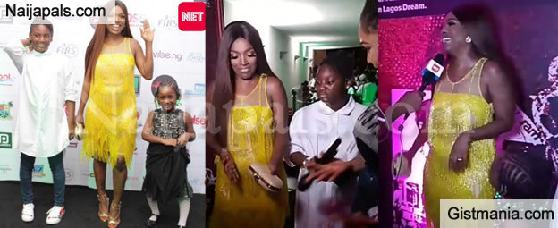 Expecting Baby Number 3?, Annie Idibia Shows Off Baby Bump At An
