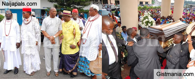 Body Of Late Patriarch Of The Ibru Family, Michael Ibru Arrives