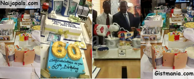 Africas Richest Man Aliko Dangote Who Turned 60 Yesterday 10th April Got Lots Of Creative Cakes From His Family And Staff