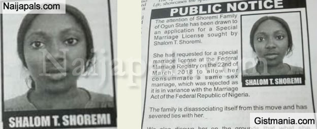 Nigerian Family Publicly Disowns Lesbian Daughter On National