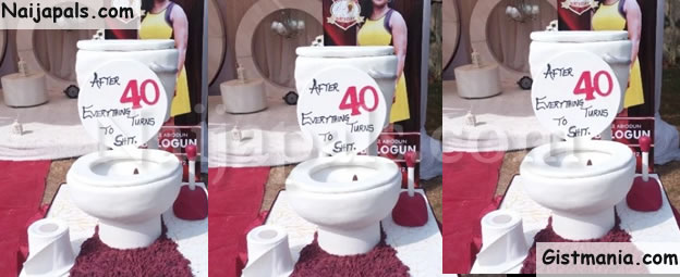 Are We Going To Say That This Woman Poos A Lot Or Is She Toilet Cleaner I Wonder Why On Earth Such Cake Design Will Be Made For 40