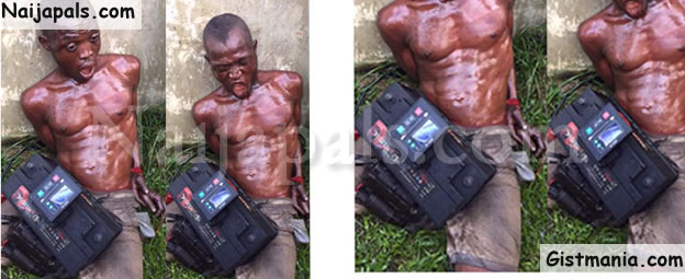 Notorious Generator Spare Parts Thief Tied Up After Being