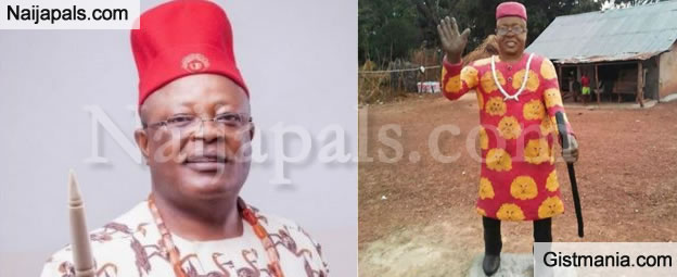 Just In!! Villagers Erect Statue Of Ebonyi State Governor