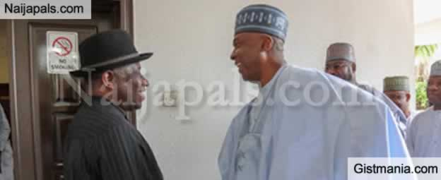 PHOTOS !!!:  Senate President, Bukola Saraki Pictured With Ex President, Goodluck Jonathan In Abuja