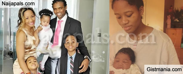 Entrepreneur And Wife Of Football Legend Kanu Nwankwo Amara Took To Her Instagram Page Celebrate Child Who Was Apparently Born On Valentines