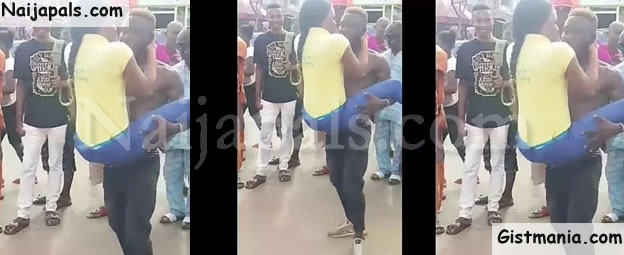 Lady Slaps Male Dancer In Edo For Disrespecting And Rough Handling Her (Video)