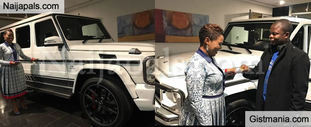 Flamboyant Malawian Pastor Shepherd Bushiri Buys Expensive G Wagon For His Wife As Birthday Gift