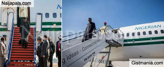 JUST IN: Presidential Plane Departs From London As Tension