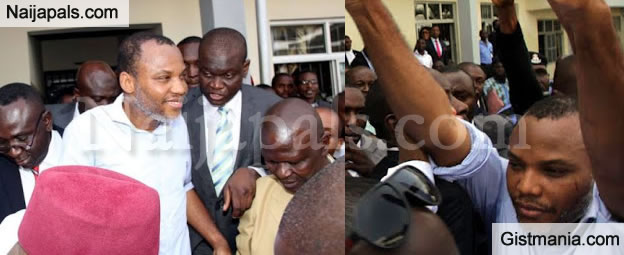 HAIL BIAFRA! Nnamdi Kanu Finally Released From Jail After