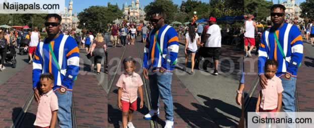 Photos: Olamide Takes His Son, Batifeori To Disneyland