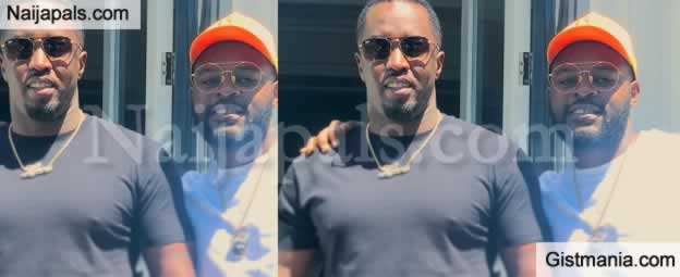 VIDEO: Falz Meets Diddy In California; Hilariously, The Rapper Renames Himself As 'Oluwadiddy'