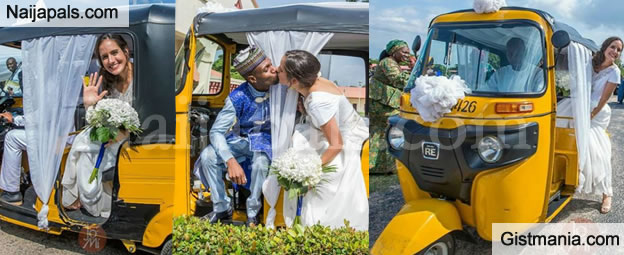 Nigerian Man And His American Bride Cause Stir As They Wed