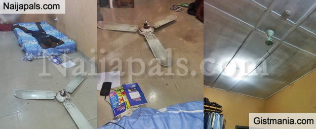 Final year uniuyo student cheats death as ceiling fan falls off user who shared some photos from his survival story on social media he is undoubtedly the luckiest man alive as he escaped death after his ceiling fan aloadofball Gallery
