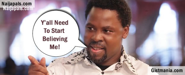 Militants Will Hijack Plane, Pray for Pope Francis – T B  Joshua