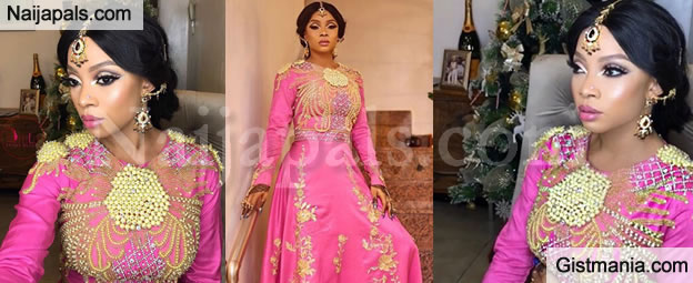 Her Pink Outfit Was Crafted By Laitan Olubi Of The Magnetic Elegance Fame Event Twp2 World Premiere Thats Wedding Party 2 And