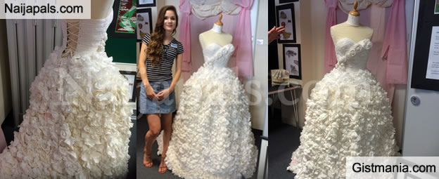 Check Out This Beautiful Wedding Dress Made Entirely Out Of Tissue