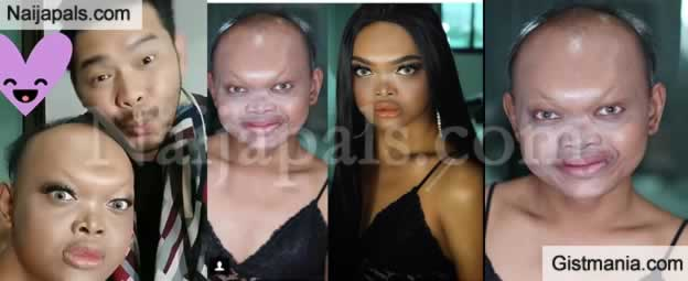 Checkout Incredible Woman's Look Before And After' Makeup
