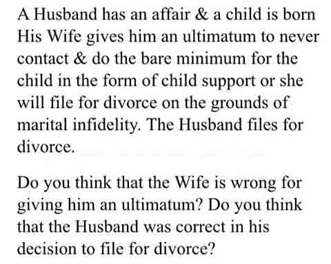 when a husband cheats on his wife
