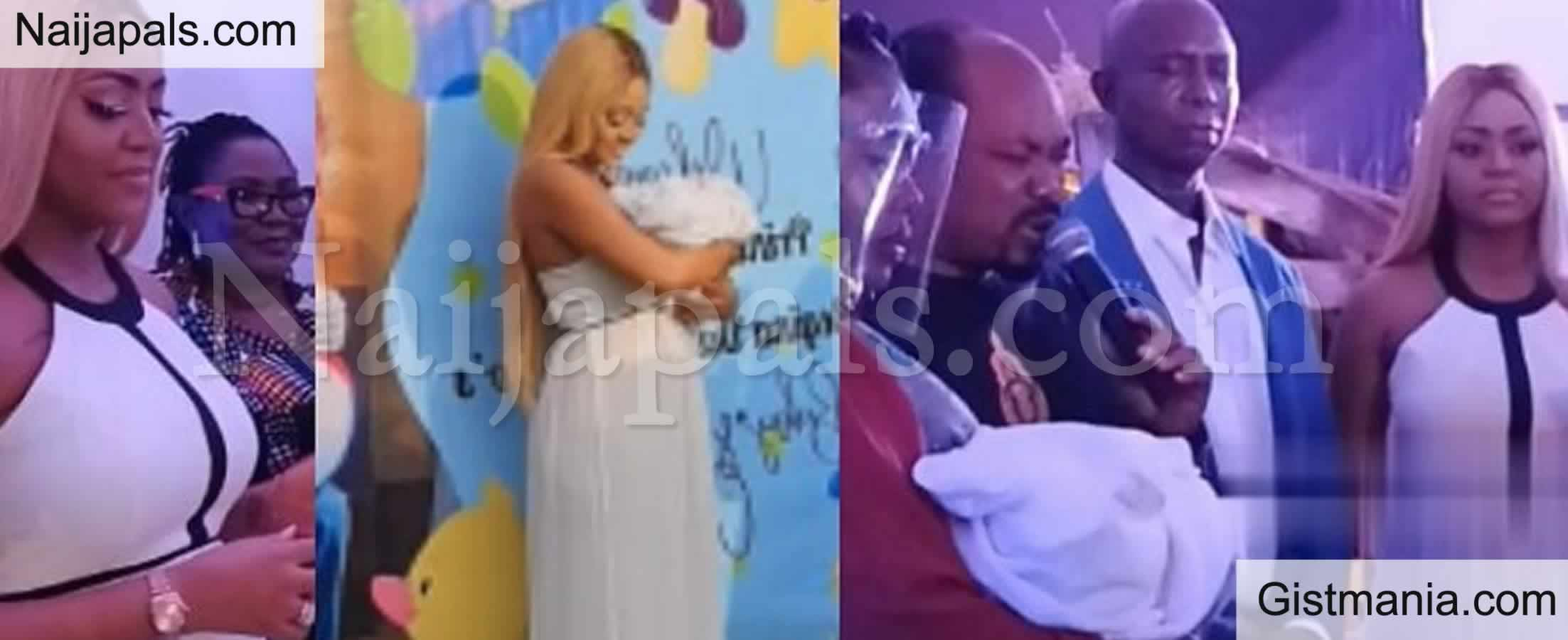 <img alt='.' class='lazyload' data-src='https://img.gistmania.com/emot/video.gif' /> WATCH: <b>Celebrities Storm Regina Daniels And Ned Nwoko's Son's Naming Ceremony</b>