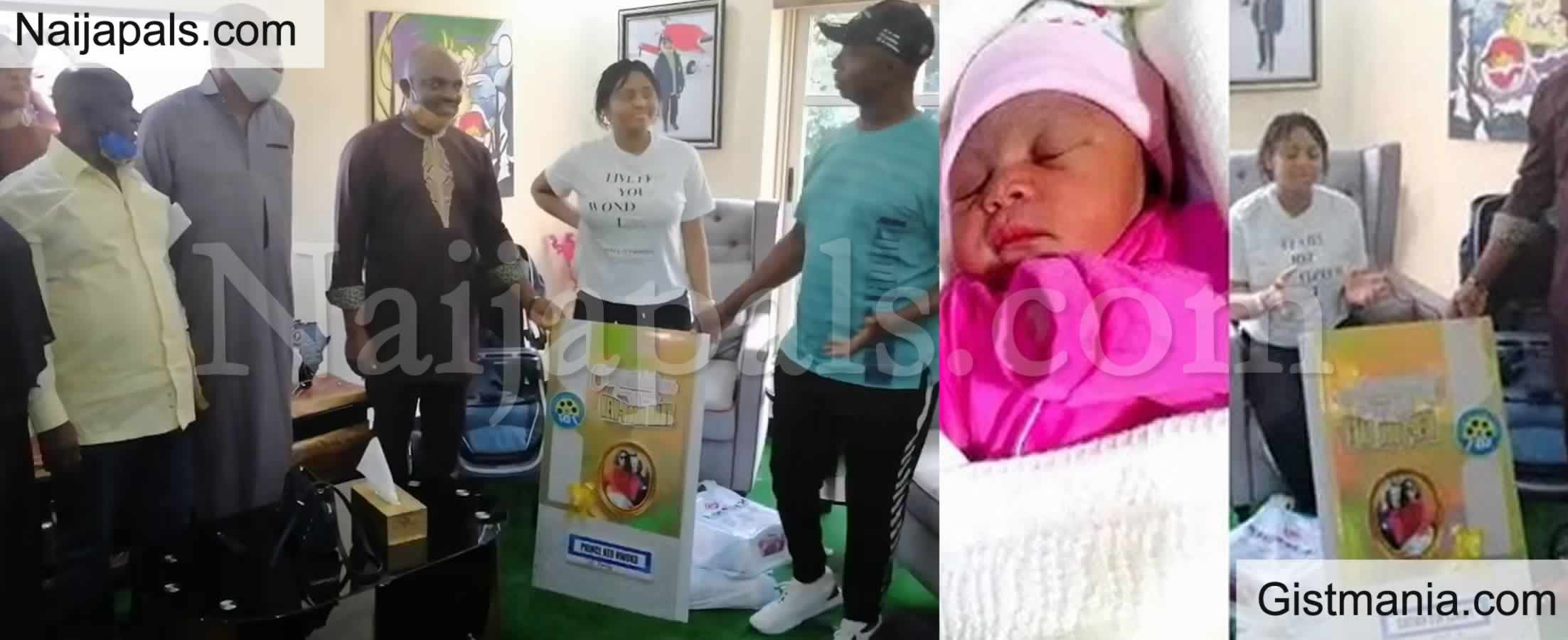 <img alt='.' class='lazyload' data-src='https://img.gistmania.com/emot/video.gif' /> VIDEO: <b>AGN Showers Gifts on Regina Daniels as Her Baby is Declared 'Nollywood Baby of the Year'</b>