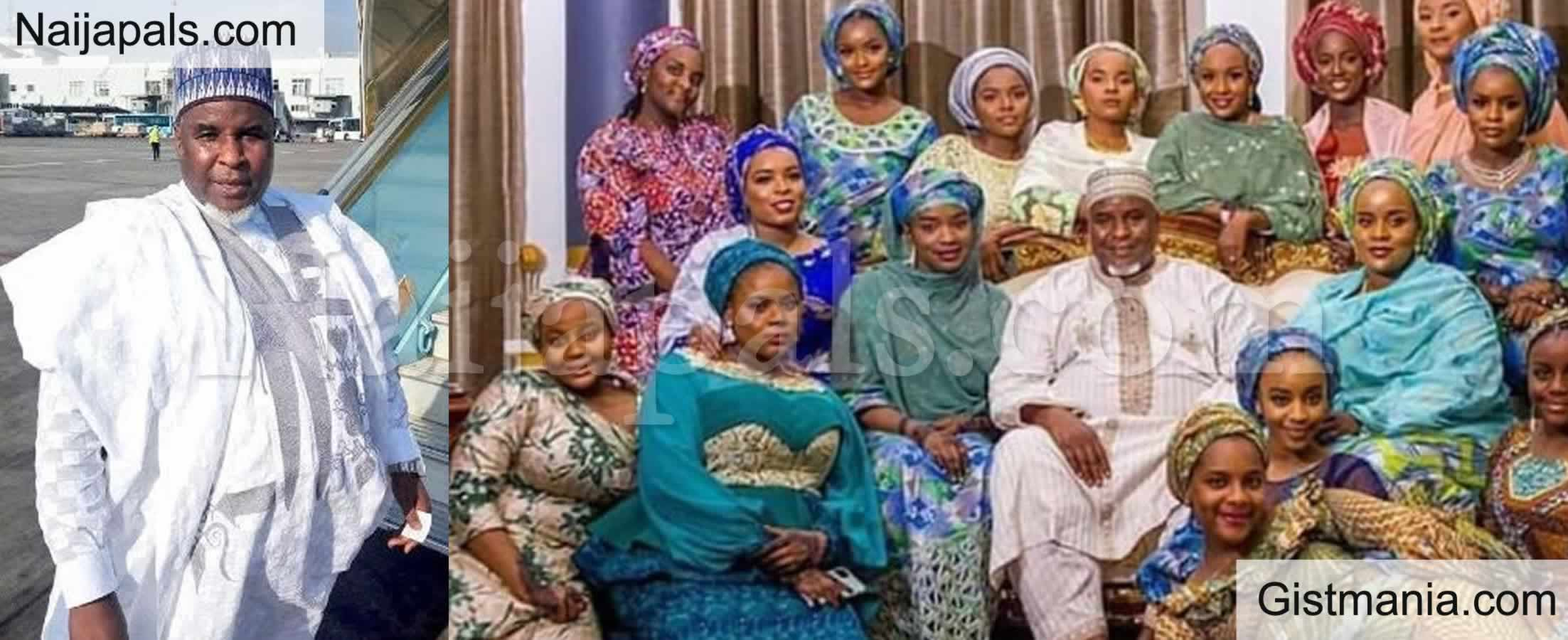 <img alt='.' class='lazyload' data-src='https://img.gistmania.com/emot/photo.png' /> <b>Billionaire & CEO of Azman Air, Alhaji Abdulmunaf Yunusa Pictured With His 16 Daughters</b>