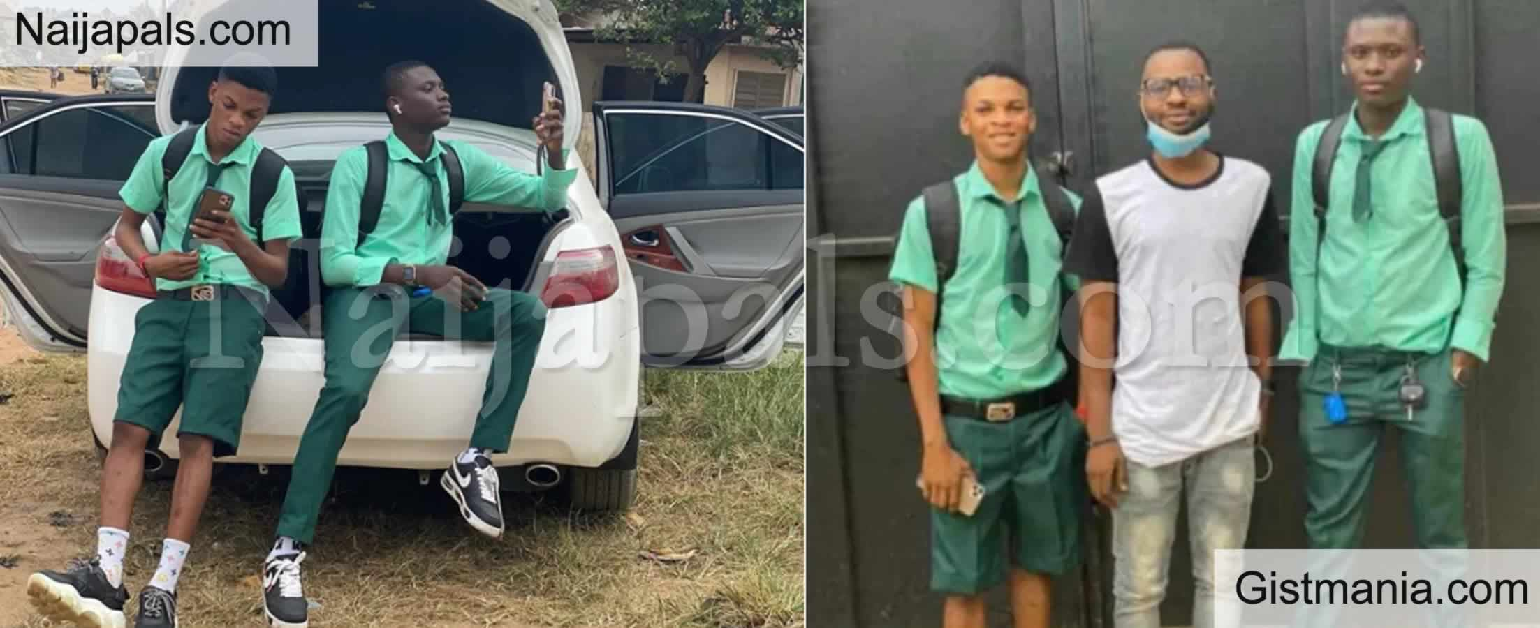 <img alt='.' class='lazyload' data-src='https://img.gistmania.com/emot/comment.gif' /> #BenefitBoys: <b>Check Out Viral Photos/Video Of Secondary School Students With Exotic Cars And Phones</b>