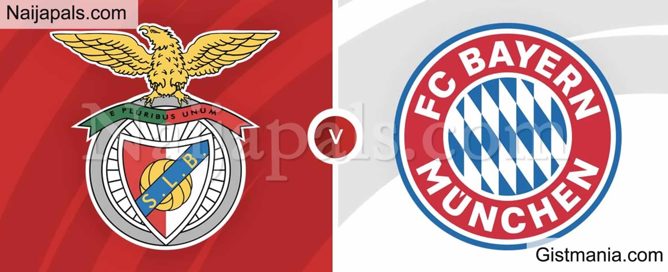<img alt='.' class='lazyload' data-src='https://img.gistmania.com/emot/soccer.gif' /> <b>Benfica v Bayern Munich : UEFA Champion's League Match, Team News, Goal Scorers and Stats</b>