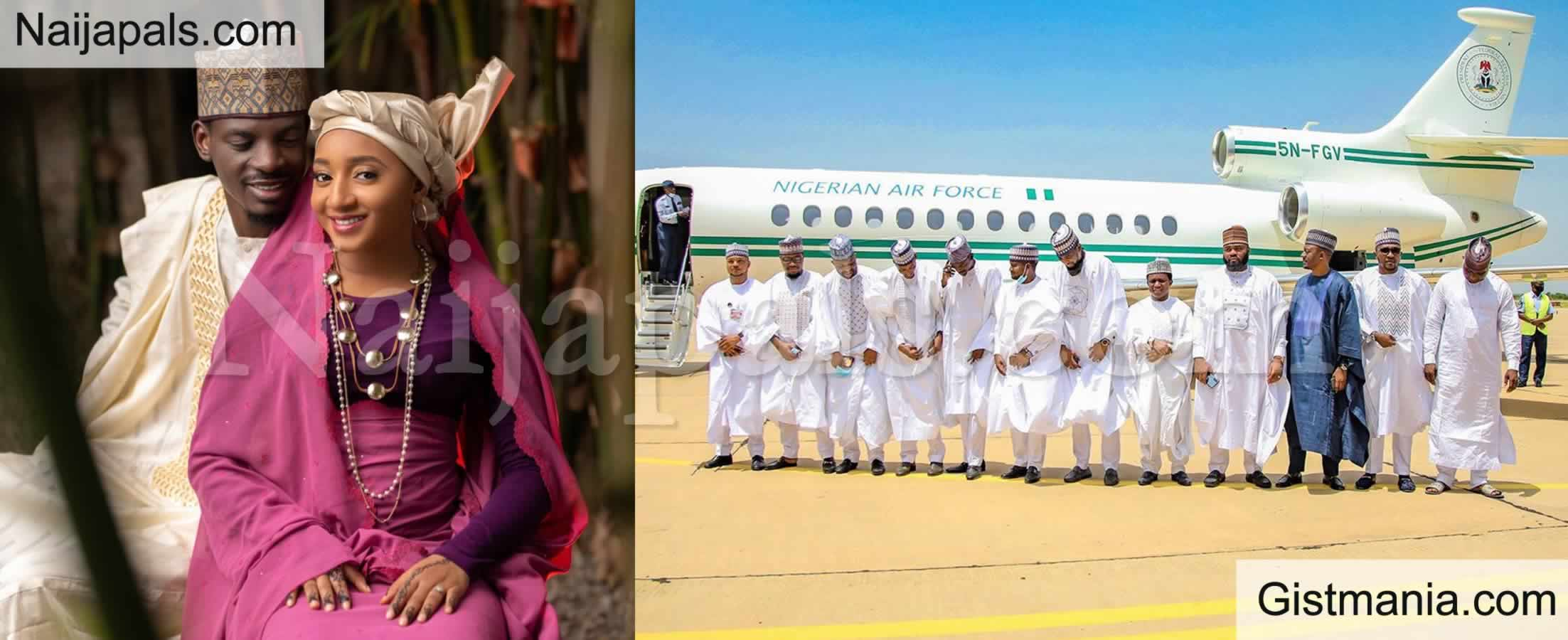 <img alt='.' class='lazyload' data-src='https://img.gistmania.com/emot/photo.png' /> <b>President Buhari Under Fire For Releasing Presidential Jet For Aide, Bashir Ahmad's Wedding In Katsina</b> (Photos)
