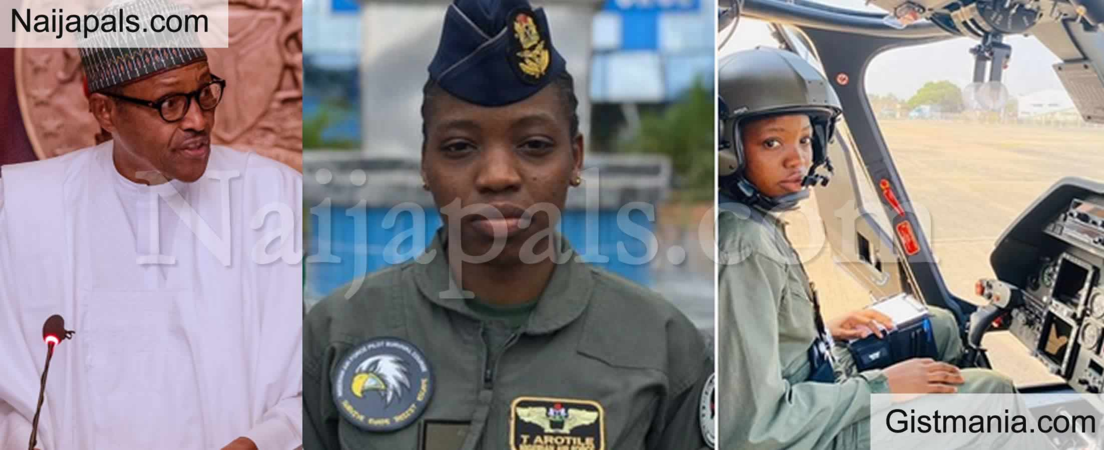 "<img alt='.' class='lazyload' data-src='https://img.gistmania.com/emot/cry.gif' /> ""We'll Miss You"" - <b>President Buhari, Tinubu, Saraki, Others Mourn Nigeria's First-ever Female Combat Helicopter Pilot, Tolulupe Arotile</b>"