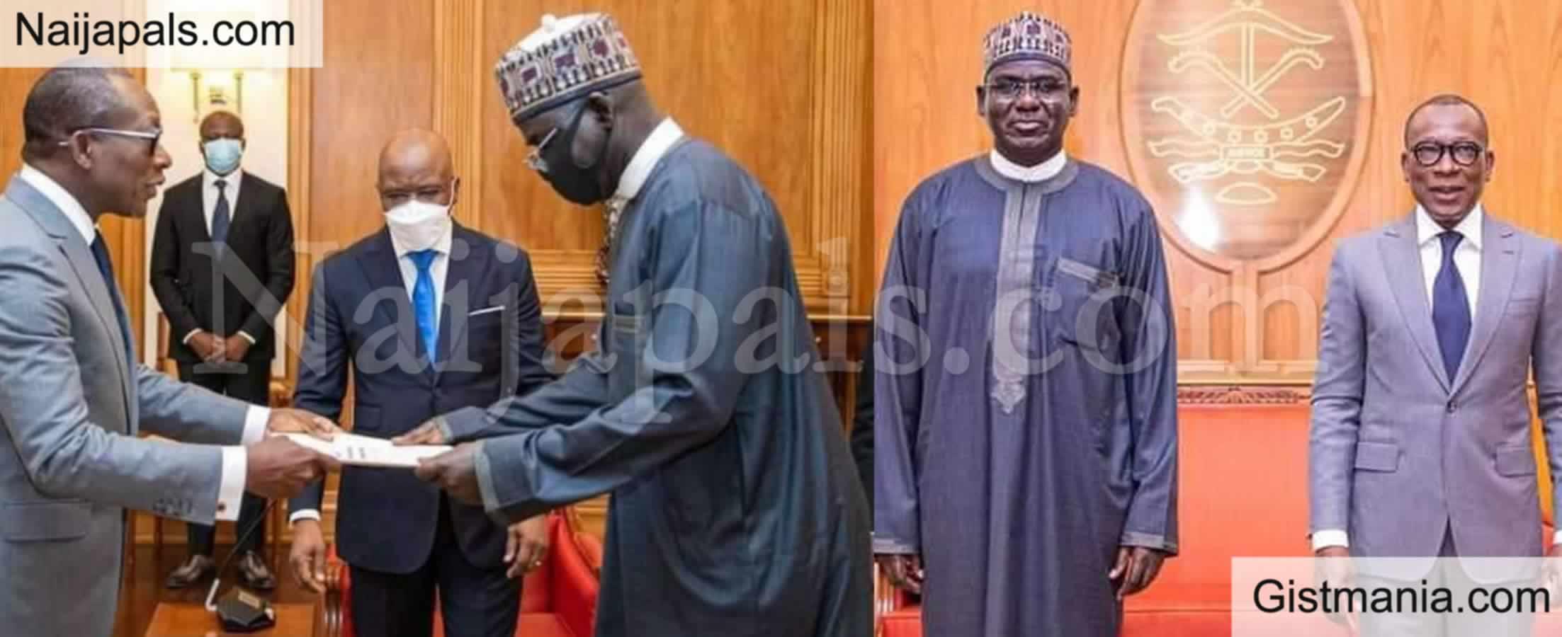 <img alt='.' class='lazyload' data-src='https://img.gistmania.com/emot/news.gif' /> Ex-Army Chief,<b> Buratai Resumes As Nigerian Envoy to Benin Republic </b>(Photo)