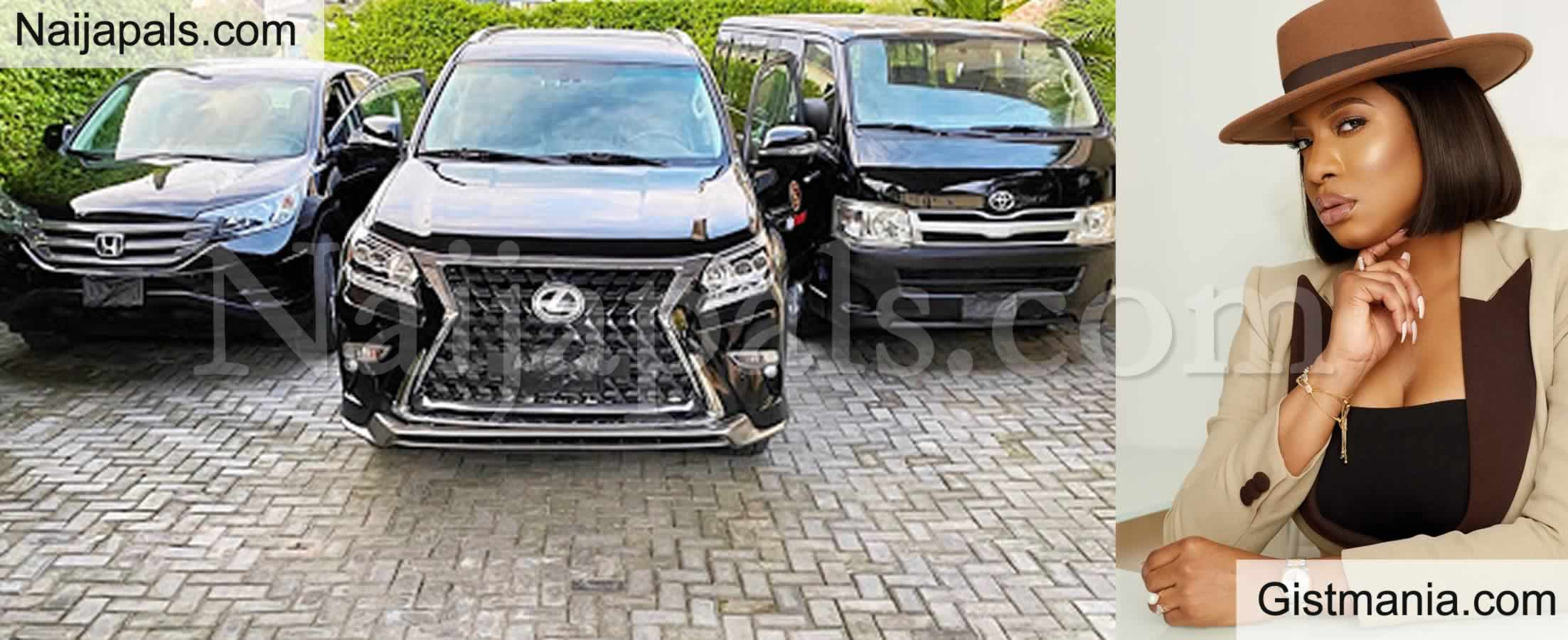 <img alt='.' class='lazyload' data-src='https://img.gistmania.com/emot/photo.png' /> <b>Actress Chika Ike Acquires Brand New Official Cars For Her Company, 'Flip Script Studios'</b> (PICS)