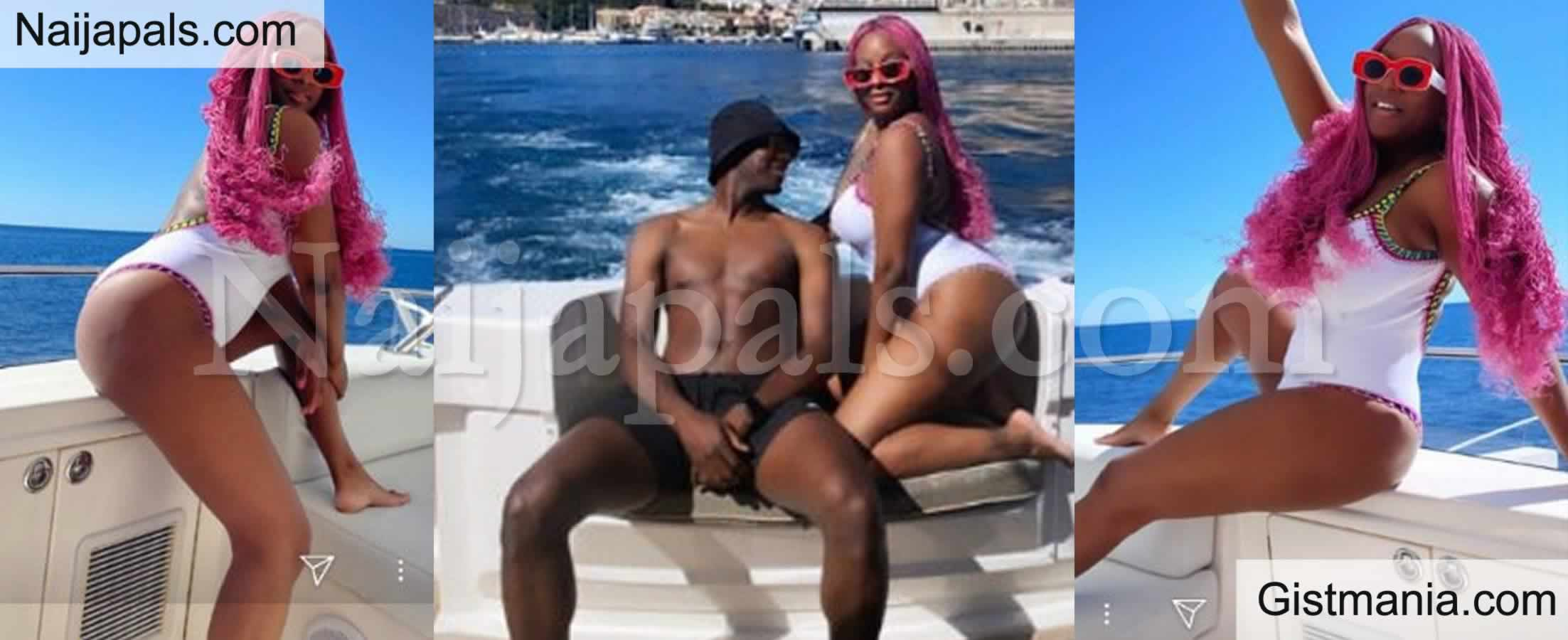 <img alt='.' class='lazyload' data-src='https://img.gistmania.com/emot/photo.png' /> <b>DJ Cuppy Flaunts Her Assets In White Swimsuit As She Enjoys Boat Cruise With Friends In Monaco</b> (PHOTOS)