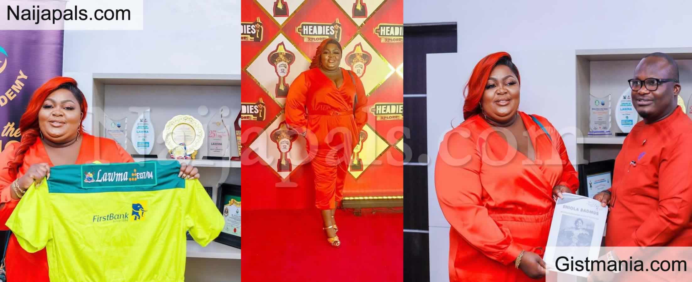 <img alt='.' class='lazyload' data-src='https://img.gistmania.com/emot/comment.gif' /> <b>Eniola Badmus Bags LAWMA Months after Getting Dragged Over Outfit To Headies</b>