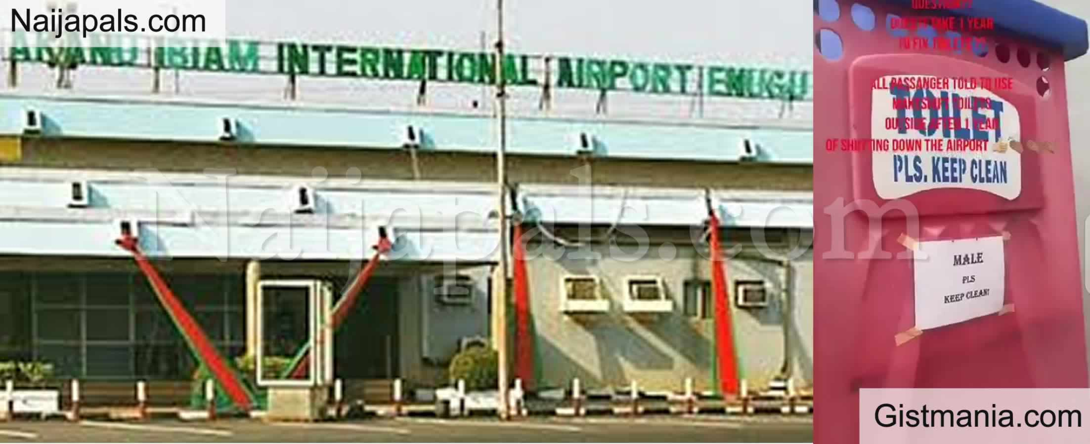 <img alt='.' class='lazyload' data-src='https://img.gistmania.com/emot/video.gif' /> <b>Enugu International Airport Renovated (After 1 Year) Without Toilets for Passengers</b> (Video)