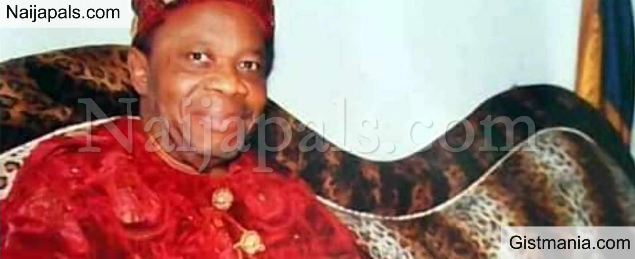 <img alt='.' class='lazyload' data-src='https://img.gistmania.com/emot/cry.gif' /> Popular Abia King, <b>Eze Ukwu of Ngwa land, Bernard Enweremadu Dies At 77</b>
