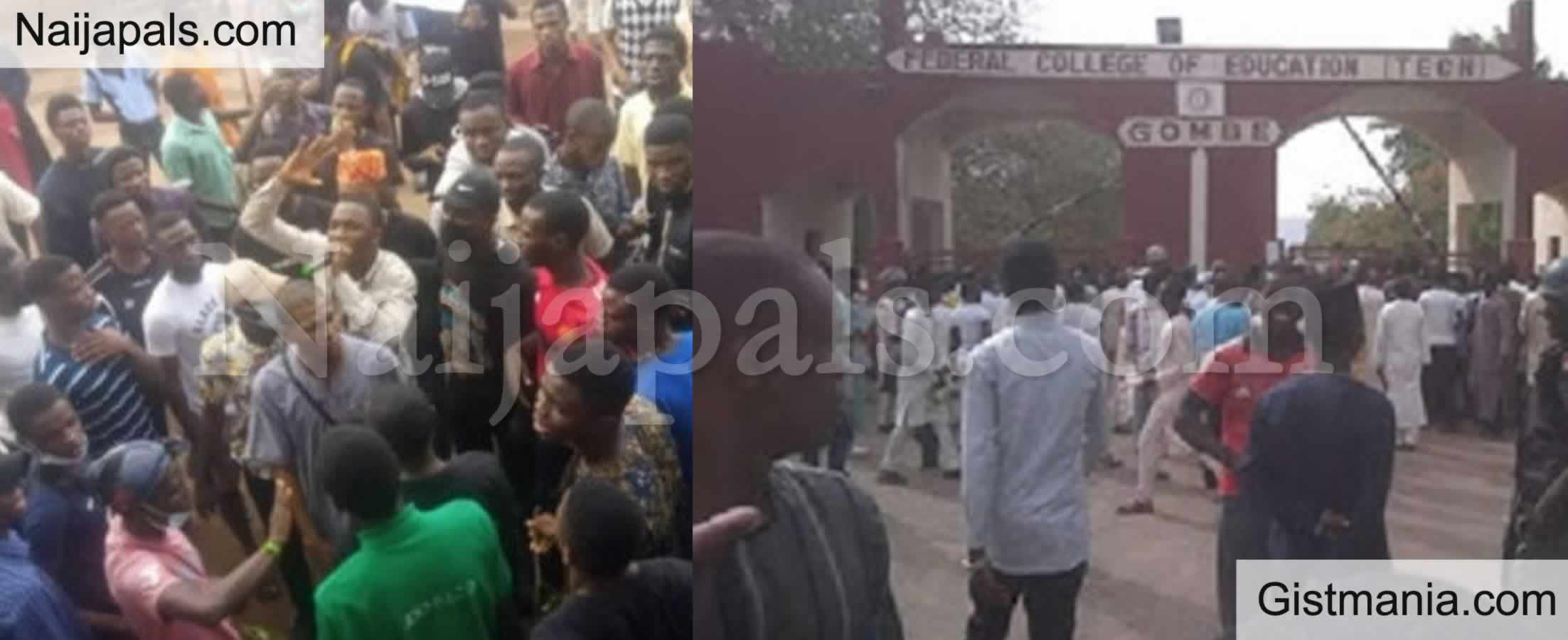 <img alt='.' class='lazyload' data-src='https://img.gistmania.com/emot/news.gif' /> <b>FCE Yola Shut Down Indefinitely After Students' Protest Over Water Scarcity Turned Bloody</b>