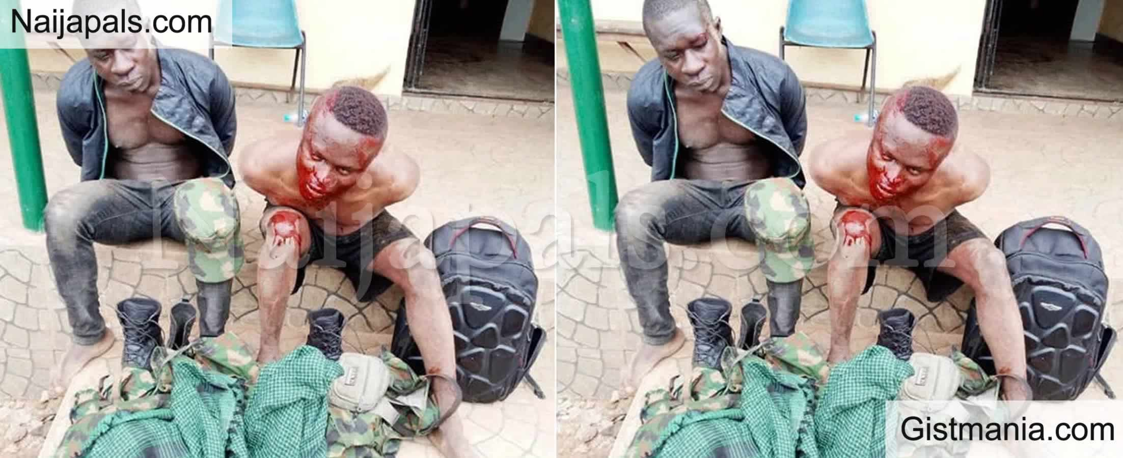 <img alt='.' class='lazyload' data-src='https://img.gistmania.com/emot/news.gif' /> <b>Two Suspected Fake Soldiers Terrorising Ogun Community Arrested By Police</b>