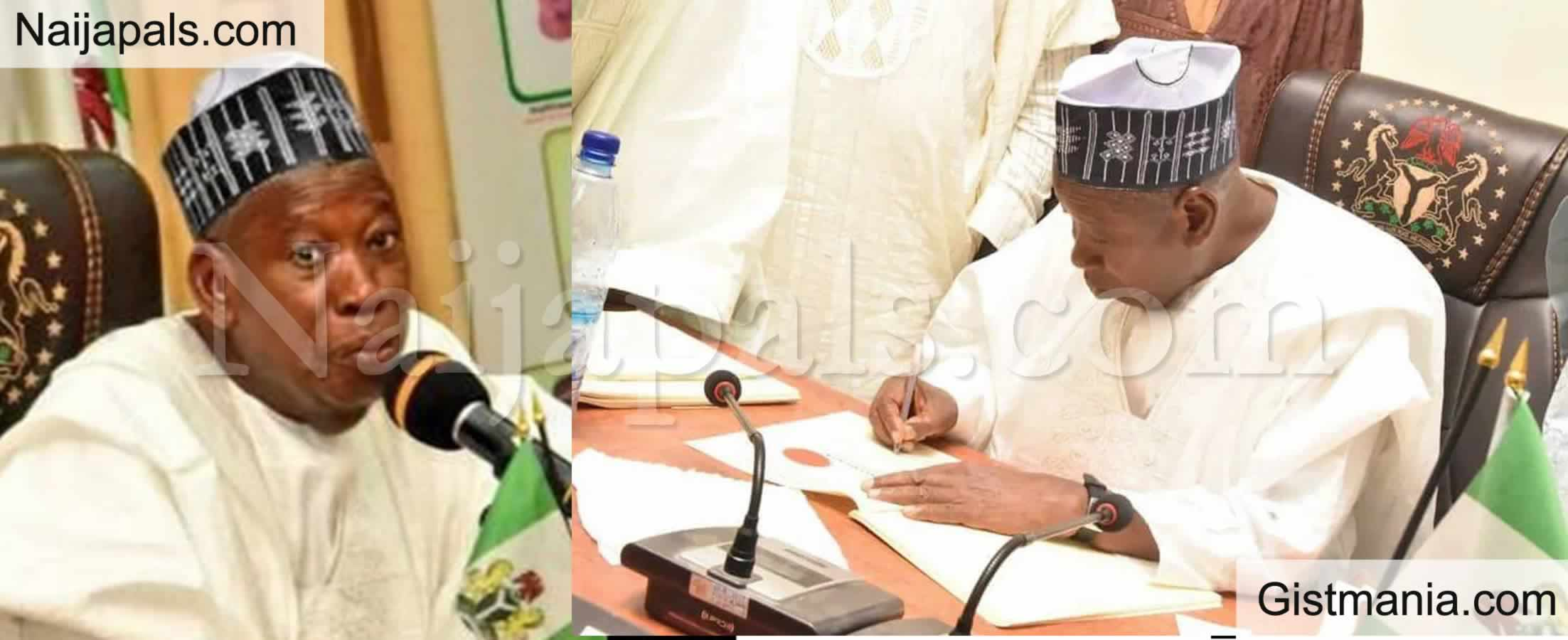 <img alt='.' class='lazyload' data-src='https://img.gistmania.com/emot/comment.gif' /> <b>Kano Gov. Ganduje Orders School Principals To Relocate To Boarding Premises Or Lose Job</b>