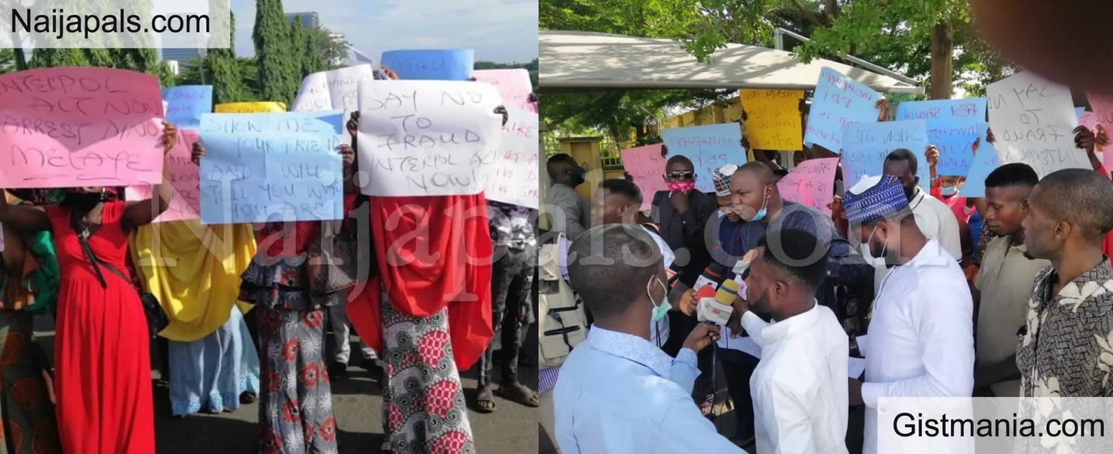 "<img alt='.' class='lazyload' data-src='https://img.gistmania.com/emot/comment.gif' /> #Hushpuppi: <b>""Arrest Atiku And Dino Melaye Now""</b> - Protesters Plea As They Storm US Embassy (PICS)"