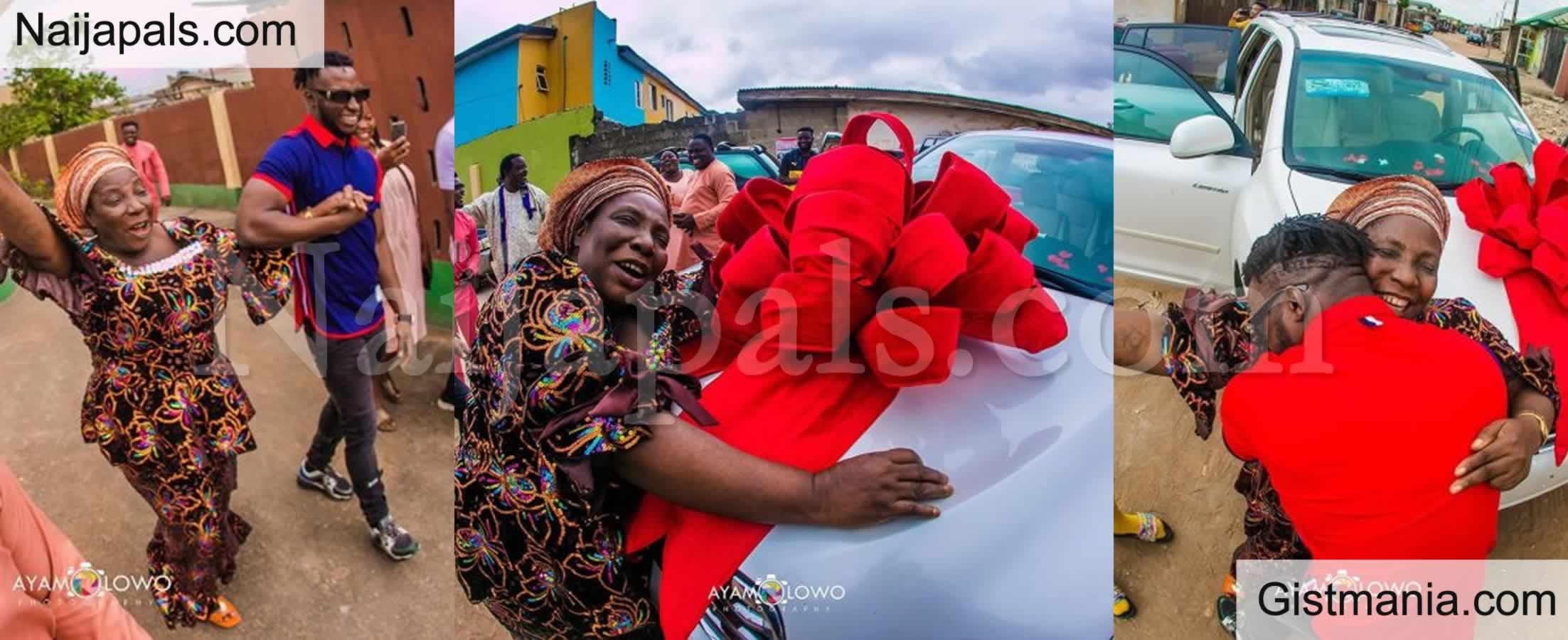 <img alt='.' class='lazyload' data-src='https://img.gistmania.com/emot/photo.png' /> <b>DJ Kaywise Gifts His Mum A Brand New SUV In Celebration Of Her Birthday</b> - PICTURES