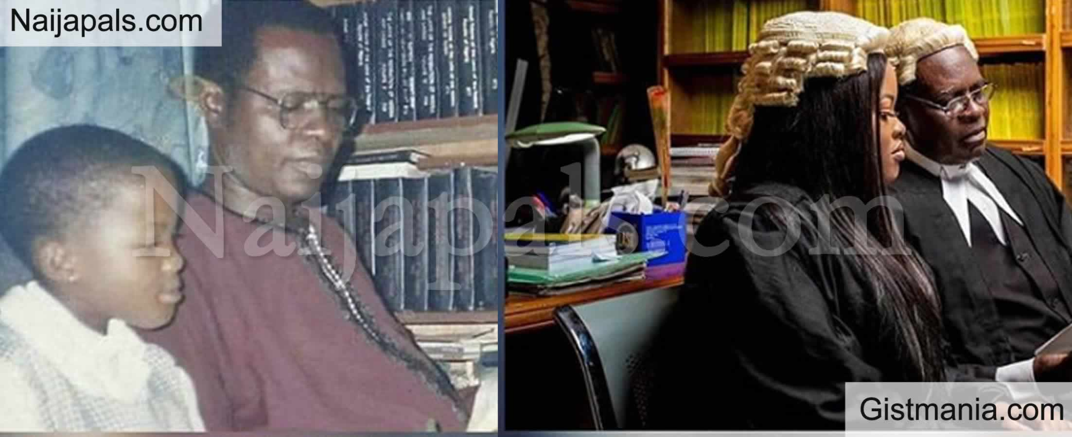 <img alt='.' class='lazyload' data-src='https://img.gistmania.com/emot/photo.png' /> PICTURE: <b>Lady Recreates Her Childhood Photo With Her Lawyer Father After Being Called To Bar</b>