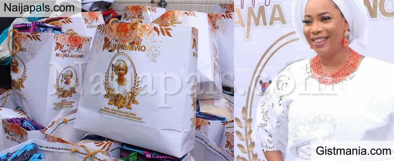 <img alt='.' class='lazyload' data-src='https://img.gistmania.com/emot/comment.gif' /> Behold, Face of The Chief Looter! <b>Nigerians Call For The Arrest Of Hon. Mojisola Alli-Macauley Over COVID-19 Birthday Souvenir</b>