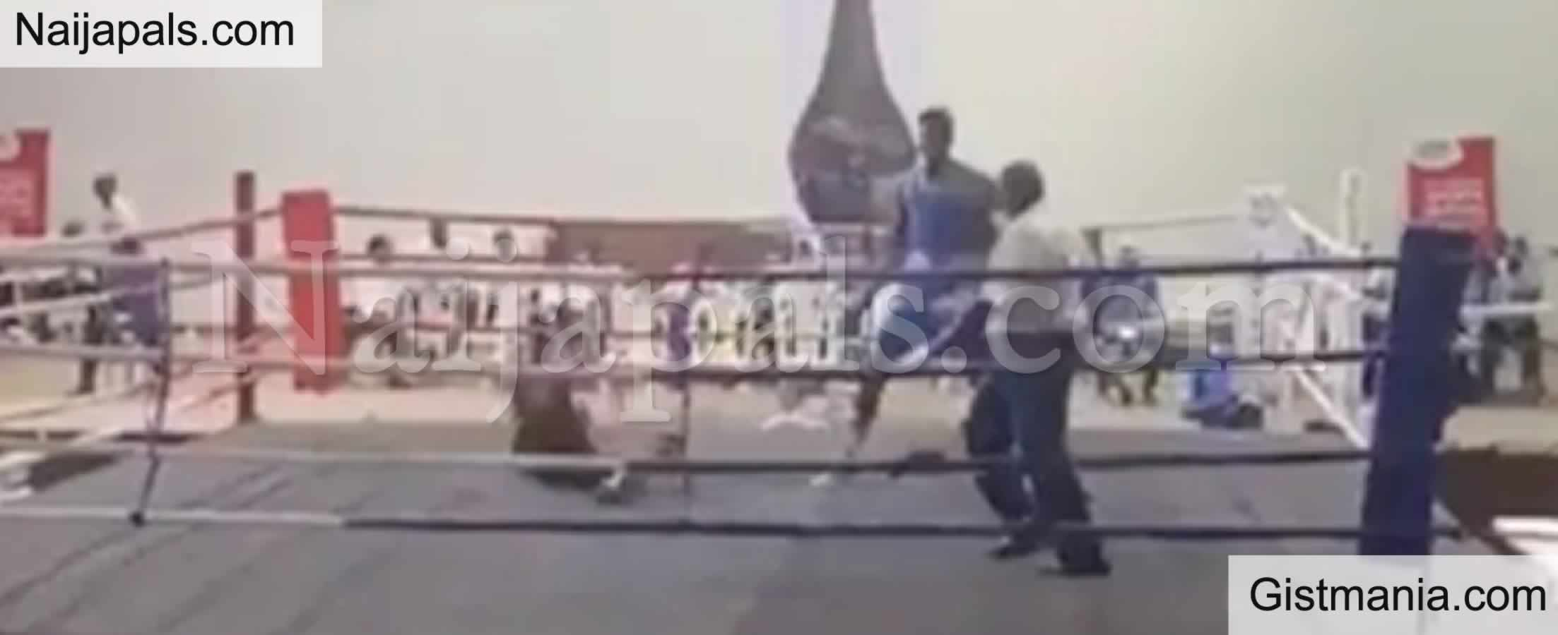 <img alt='.' class='lazyload' data-src='https://img.gistmania.com/emot/comment.gif' /> Amazing! <b>Nigerian Boxer Adegbola Knocks Out Opponent In 15 Seconds</b>