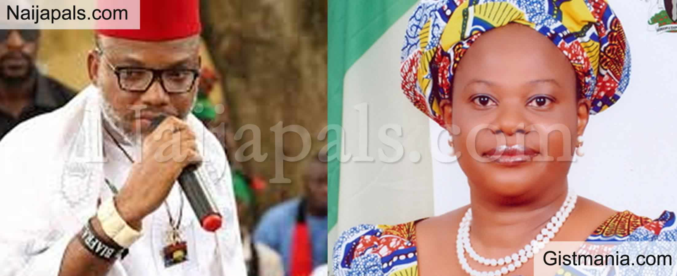 "<img alt='.' class='lazyload' data-src='https://img.gistmania.com/emot/comment.gif' /> <b>""I Have The Name Of The Man That Poisoned Dora Akunyili""</b> - Nnamdi Kanu Blows Hot"