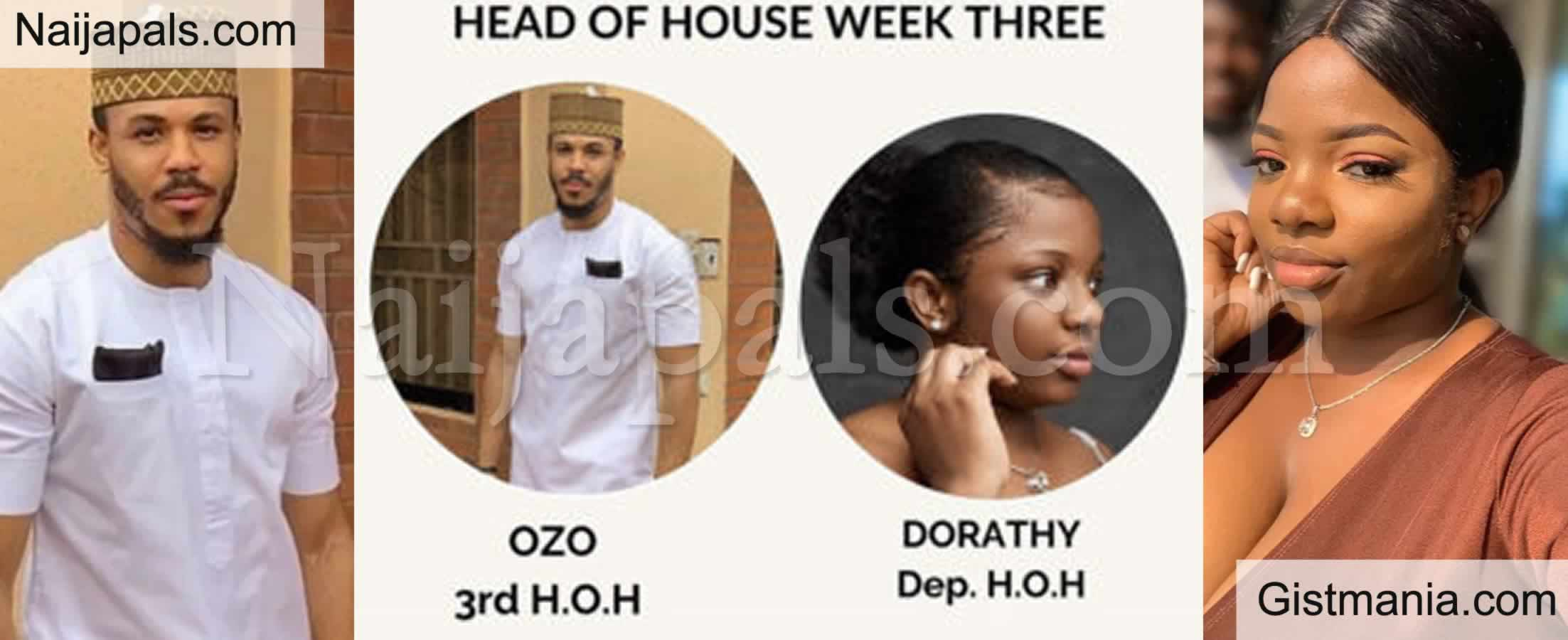 <img alt='.' class='lazyload' data-src='https://img.gistmania.com/emot/comment.gif' /> #BBNaijaLockdown: <b>Ozo Emerges HEAD OF HOUSE, Picks His Bestie, Dorathy As Deputy</b>